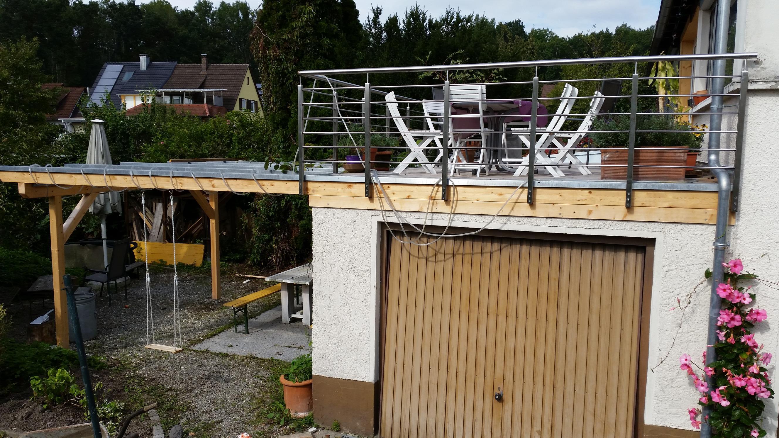 Terrasse auf alter Garage in Radolfzell   Werner Ettwein GmbH