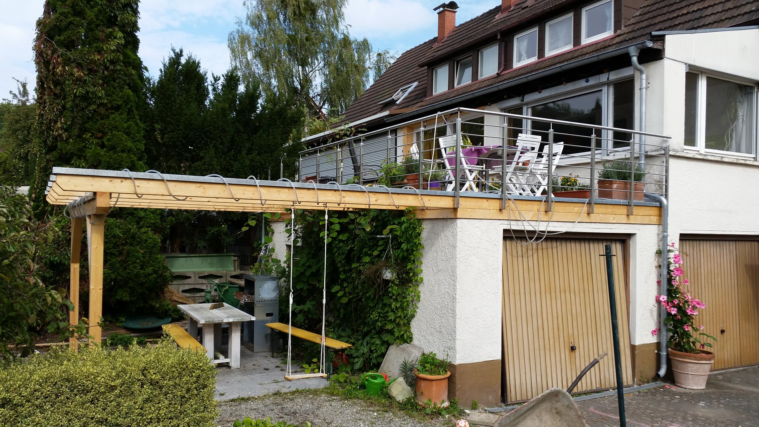 terrasse auf alter garage in radolfzell werner ettwein gmbh. Black Bedroom Furniture Sets. Home Design Ideas
