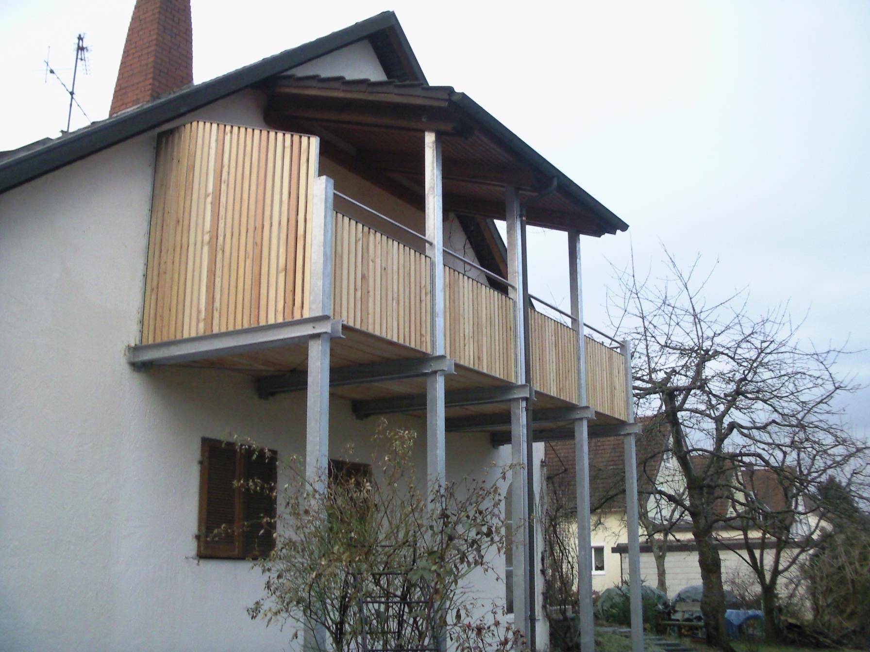 balkon in stahl und holz werner ettwein gmbh. Black Bedroom Furniture Sets. Home Design Ideas
