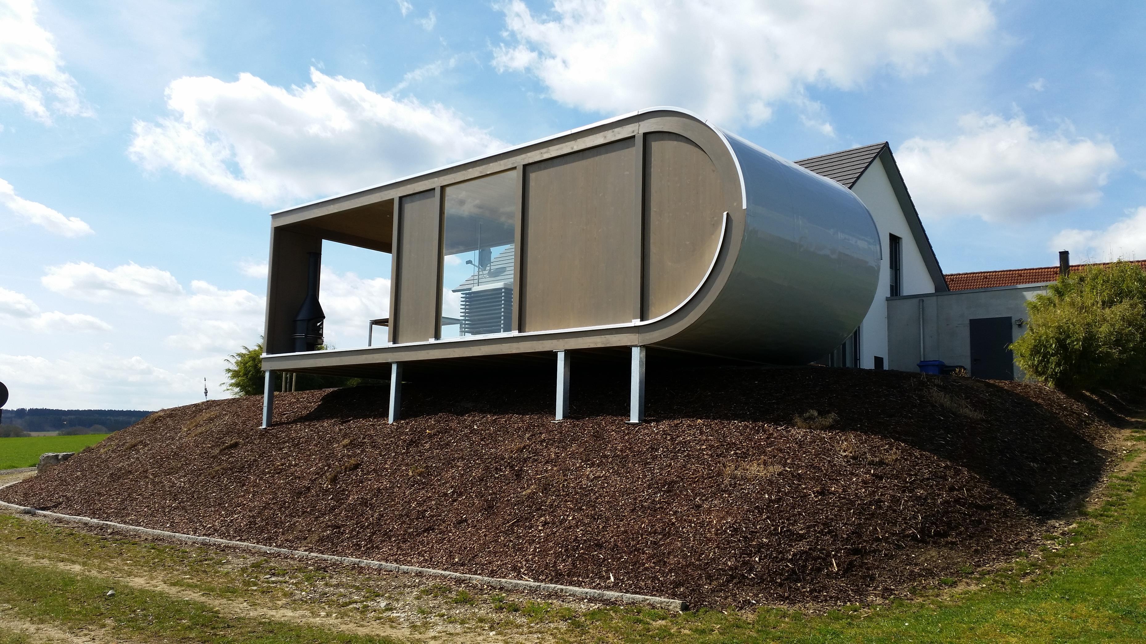 design gartenhaus mit integriertem ger teschuppen werner. Black Bedroom Furniture Sets. Home Design Ideas