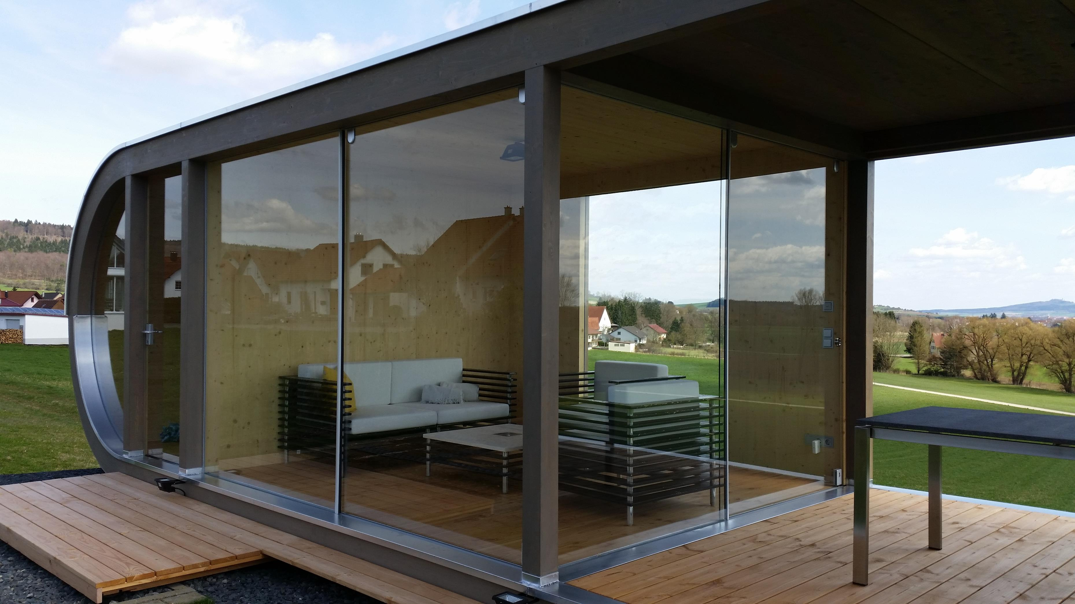 design gartenhaus mit integriertem ger teschuppen werner ettwein gmbh. Black Bedroom Furniture Sets. Home Design Ideas