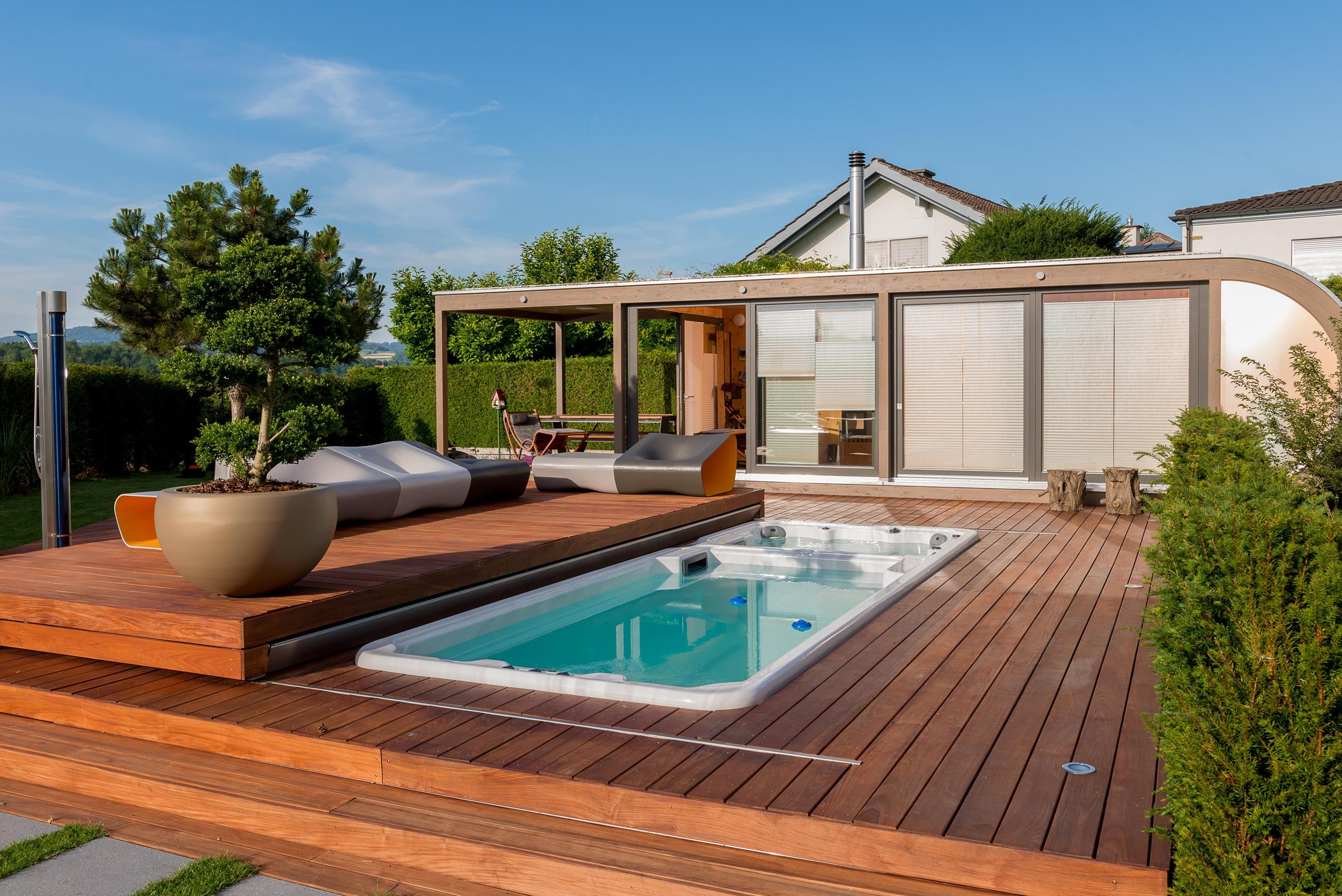 luxuri ses wellness poolhaus bei z rich werner ettwein gmbh. Black Bedroom Furniture Sets. Home Design Ideas