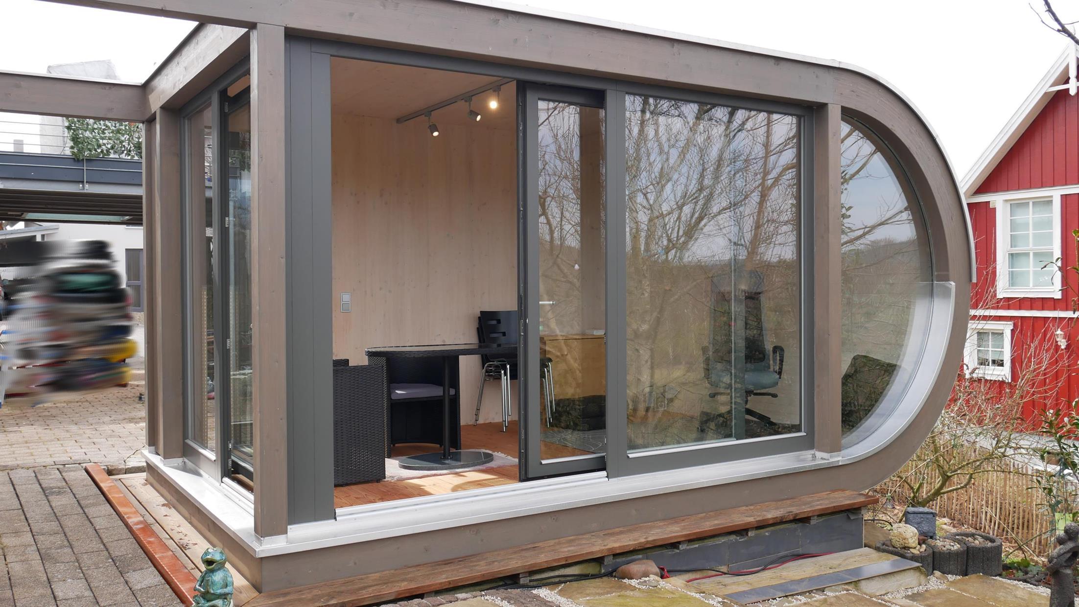 Kleines rundes design gartenhaus in marburg werner ettwein gmbh