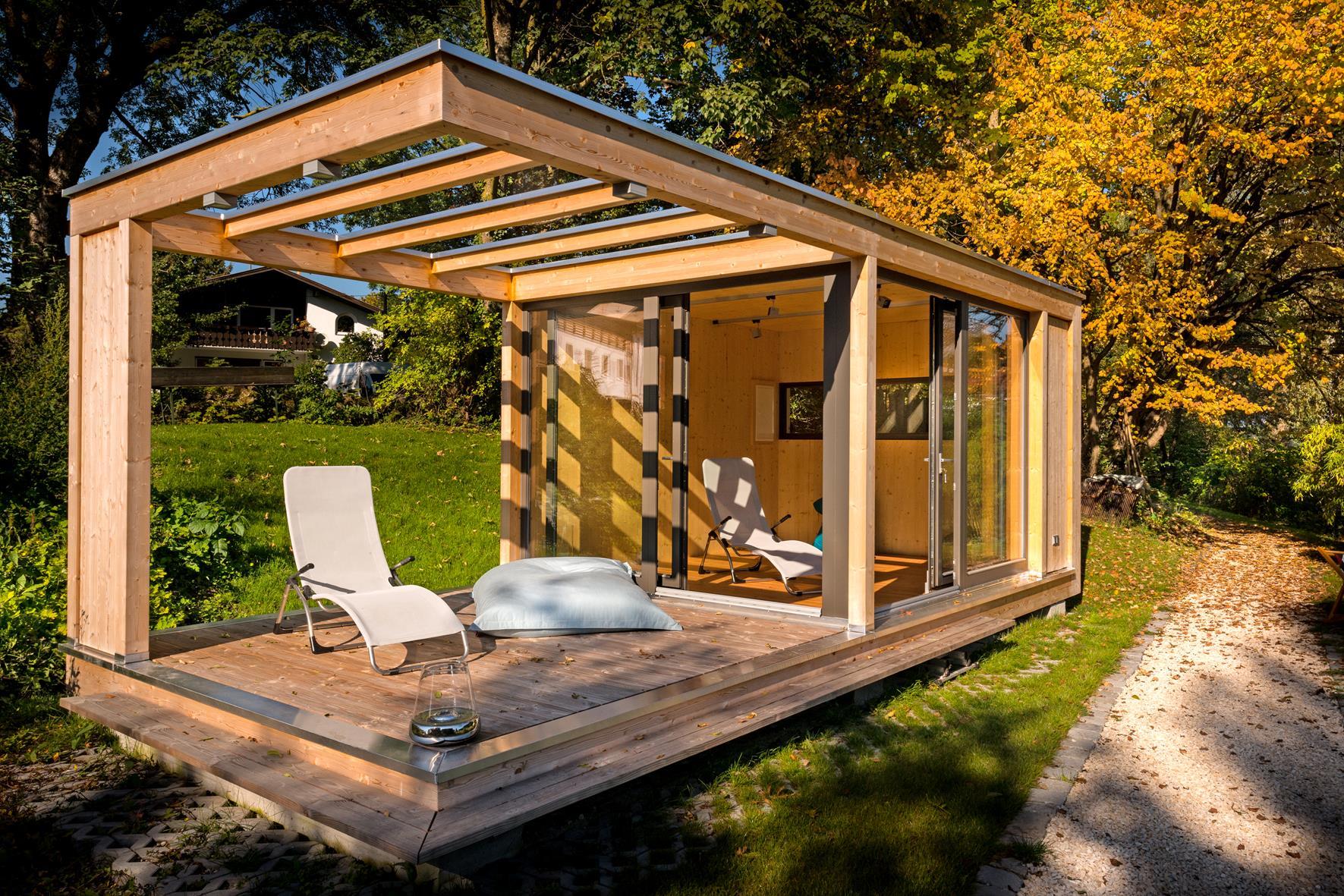 design gartenhaus auf bayerischem seegrundst ck werner. Black Bedroom Furniture Sets. Home Design Ideas